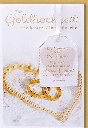 Tarjeta, bodas de oro diseño dos goldende Oro Anillos con cadena ...