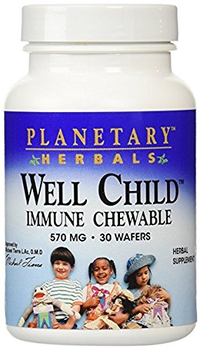 Planetary Herbals Well Child Immune Chewable Wafers, 30 - Herbal Child Syrup Well