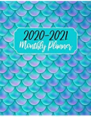 2020-2021 Monthly Planner: Blue Ocean Mermaid, 24 Months Calendar Agenda January 2020 to December 2021 Schedule Organizer With Holidays and inspirational Quotes