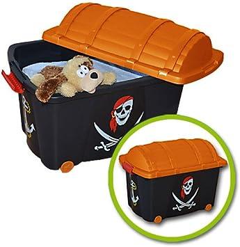 Caja para juguetes Caja con ruedas Baúl para juguetes infantiles ...