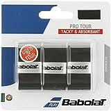 BABOLAT Pro Tour Grip, Black, Black or White, Pack of 3
