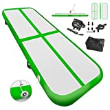 Weanas Gymnastics Air Tumbling Track Mat Inflatable Tumbling Mats with Electric Air Pump for Practice Gymnastics, Tumbling, Parkour, Home Floor