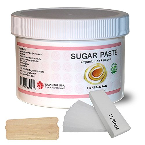 Sugaring Hair Removal Paste at Home Kit - (Strips, Applicator Sticks) Large350g (12oz.)