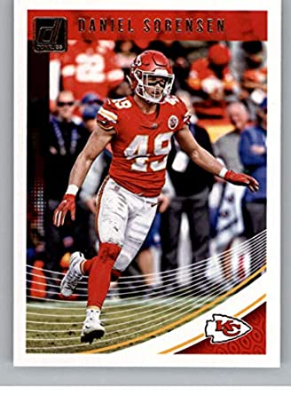 ce9756437 Amazon.com  2018 Donruss Football  145 Daniel Sorensen Kansas City Chiefs  Official NFL Trading Card  Collectibles   Fine Art