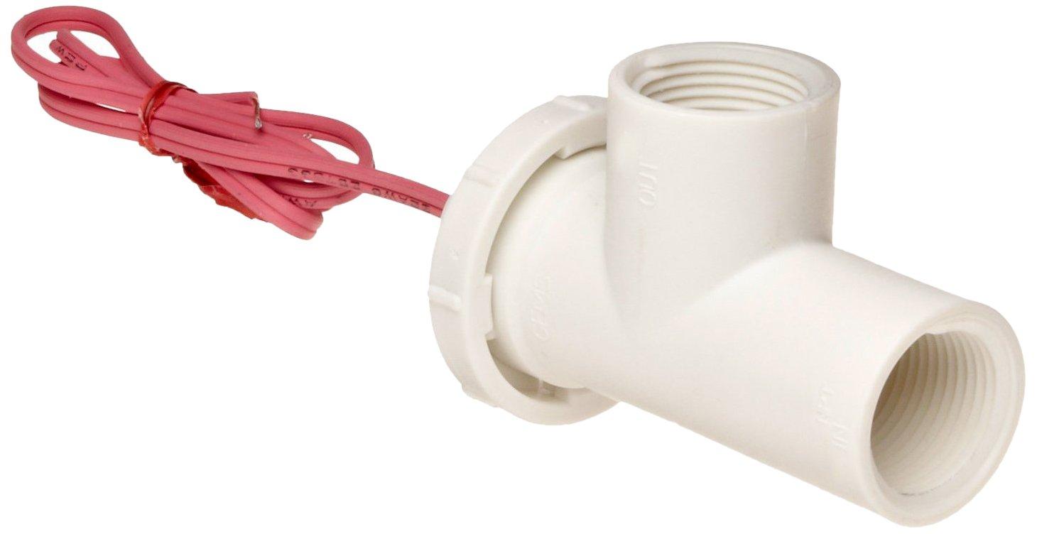 Gems Sensors FS-500 Series Polypropylene Flow Switch, Elbow, Shuttle Type, 0.5 gpm Flow Setting, 3/4'' NPT Female