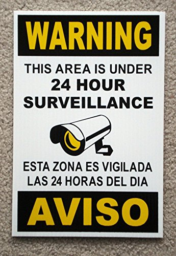 1 Pc Exceptional Popular Security Signs Surveillance CCTV Protection Camera Reflective Size 8
