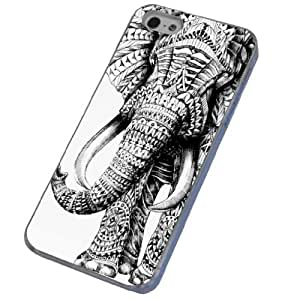 Cellbell Official License iphone 5 5S aztec Ornate elephant Fashion Trend Design Case/Back cover Metal and Hard Plastic Case by ruishername