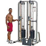 Body Solid Pro Club Line SDC2000G2 Dual Cable Column with Dual 235-Pound Weight Stacks Body Solid
