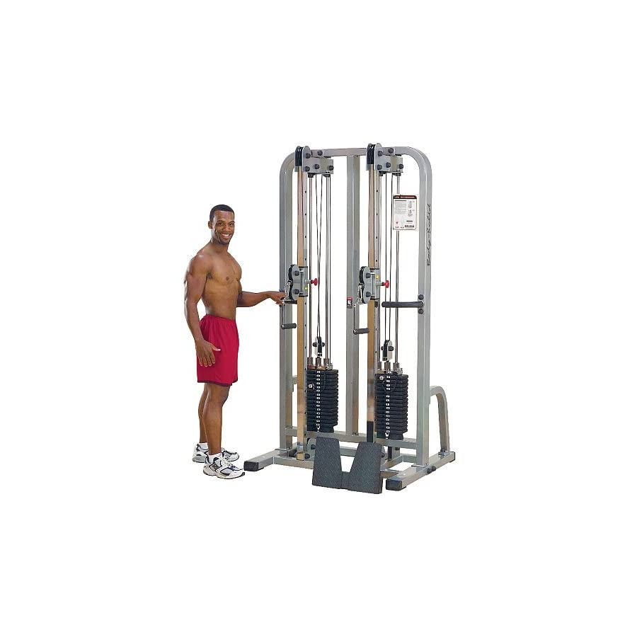Body Solid Pro Club Line SDC2000G2 Dual Cable Column with Dual 235 Pound Weight Stacks