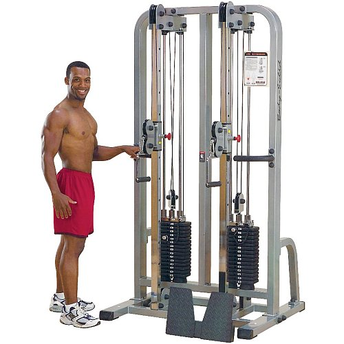 Body Solid Pro Club Line SDC2000G2 Dual Cable Column with Dual 235-Pound Weight Stacks by Body-Solid