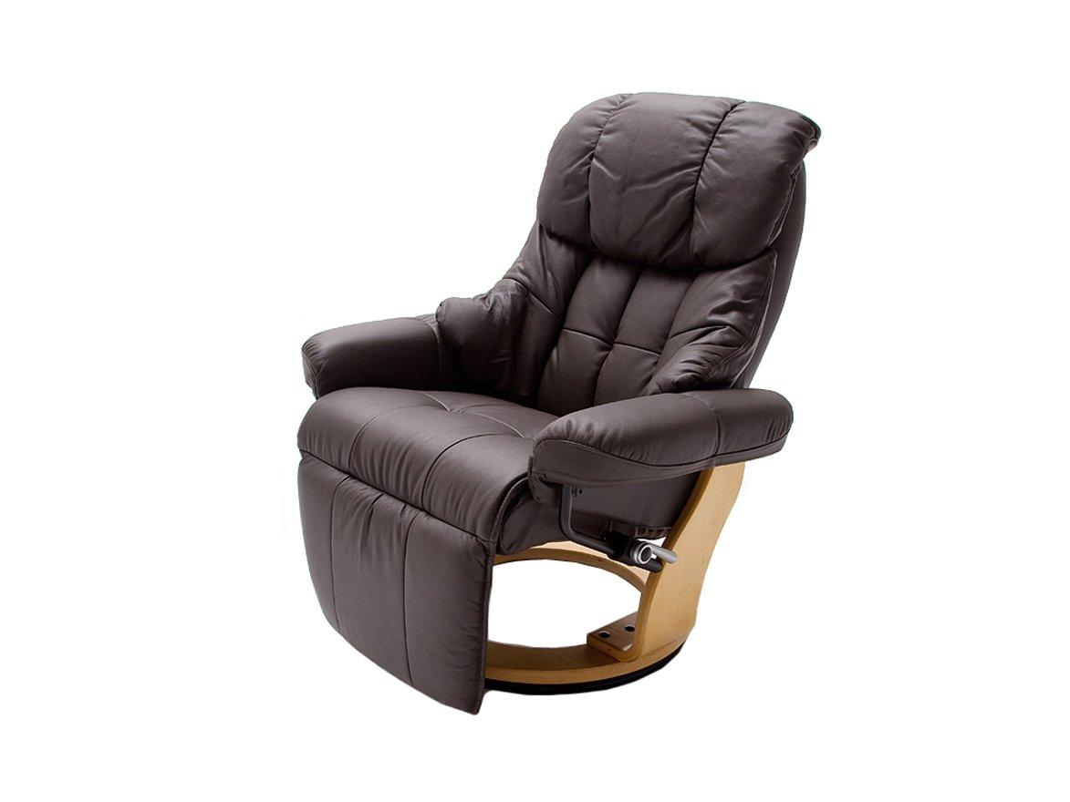 Relax Sessel Calgary mit Fußstütze von Confortevoli Fernsehsessel Dunkelbraun