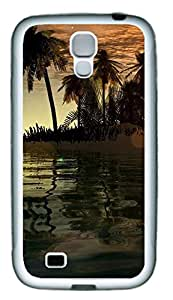 Samsung Galaxy S4 I9500 Cases & Covers - 3D Islands And Tree Custom TPU Soft Case Cover Protector for Samsung Galaxy S4 I9500 - White