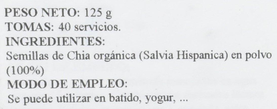 Chia powder 125 g: Amazon.es: Salud y cuidado personal