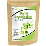 Marine Phytoplankton Capsules (180 x 500mg) | MySuperFoods | Purest Food on Earth | Cultivated from the Deep Sea | Rich in Micronutrients | Add to Juices, Smoothies, Shakes