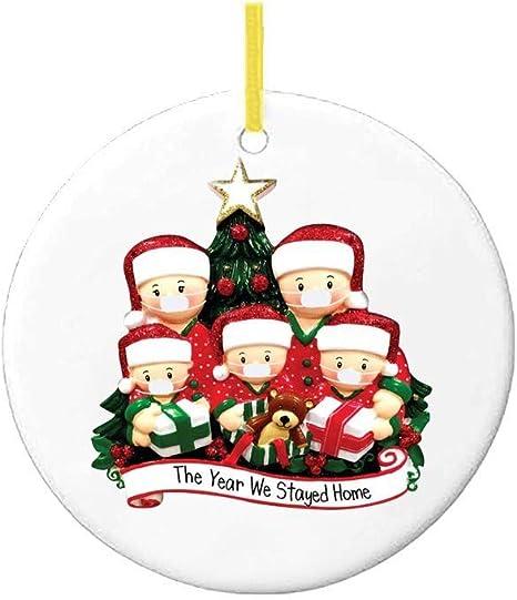 Only 1 Head Available 2020 Xmas Family Santa Christmas Tree Hanging.