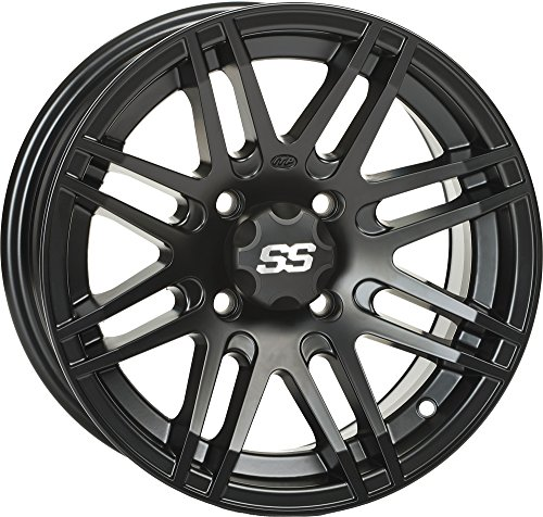 ITP SS ALLOY SS316 Matte Black Wheel with Machined Finish (12x7