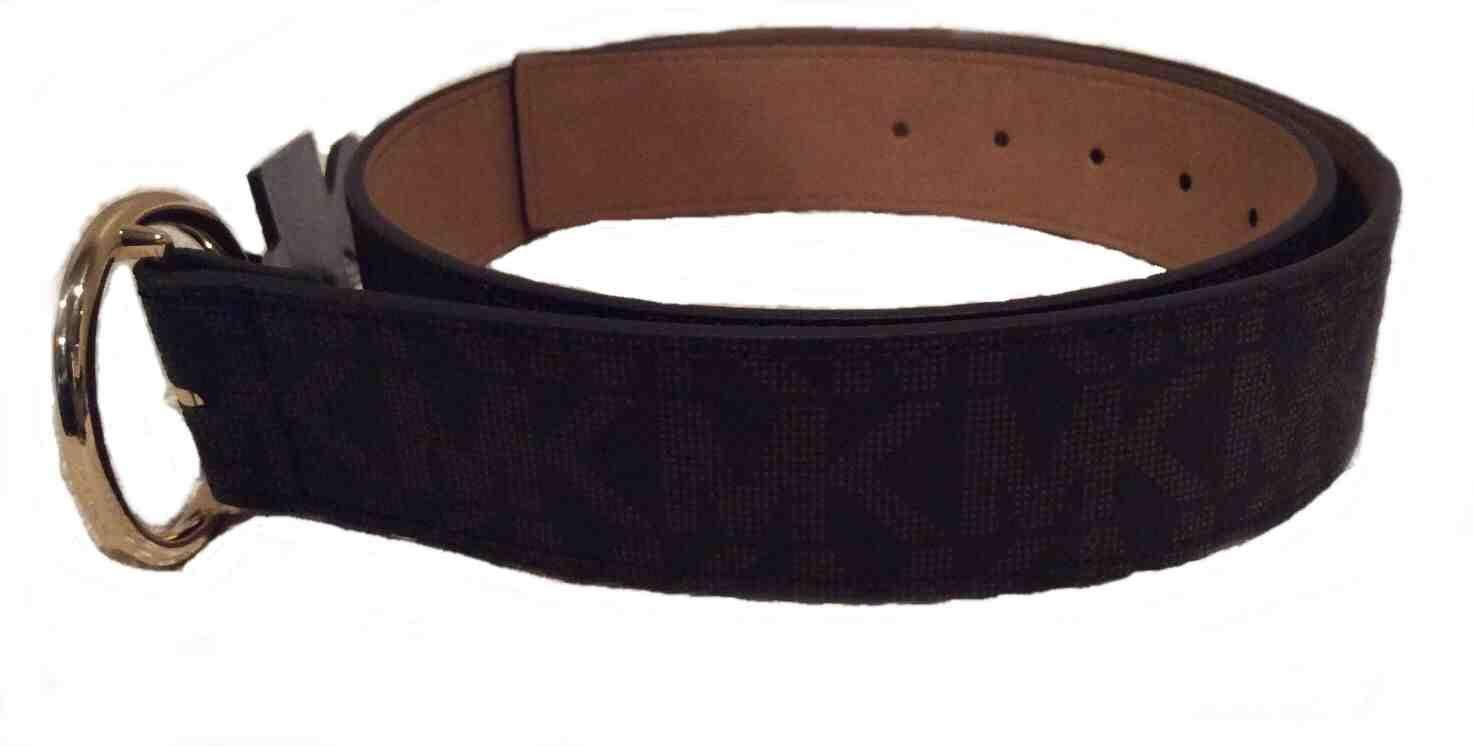 74aa52c1b Michael Kors Brown Faux Leather Belt For Women: Amazon.ae: TheBoutique_uae
