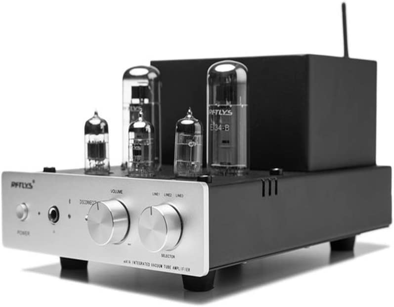 RFTLYS EA1A Headphone Amplifier & Integrated Amp Wireless Bluetooth EL34 Tube Class A Single-Ended (Silver)
