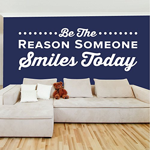 Be The Reason Someone Smiles Today. - 0350 - Home Decor - Wall Decor - Dental - Dentist - Teeth - Oral Hygiene - Happy - Smile - Positive