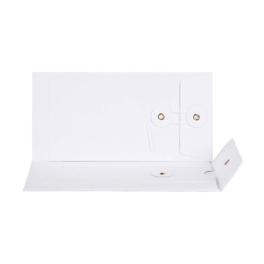 Umschlag Dl Weiß Bindfadenverschluss Din Lang Briefumschlag