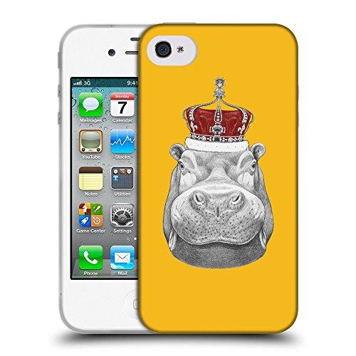 GoGoMobile Coque de Protection TPU Silicone Case pour // Q05260602 hippopotame ambre // Apple iPhone 4 4S 4G