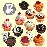 Kicko Lip Gloss Cupcake Shape - 12 Pack Assorted