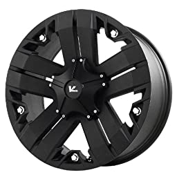 V-Rock Recon Matte Black Wheel with Painted Finish (17x9\