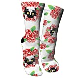 Ygsdf59 Tuxedo Cat and Roses Compression Socks for Women and Men - Best Medical,for Running, Athletic, Varicose Veins, Travel