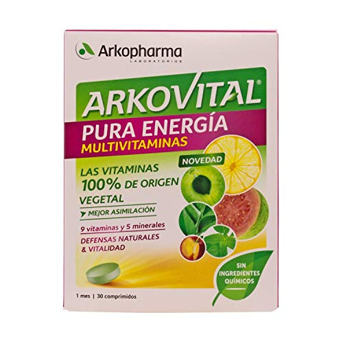 Amazon.com: Arkovital Pure Energy multivitamin 30comp - Nutritional Supplement That Stimulates The Defenses - No Fatigue - Multivitamin: Health & Personal ...