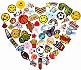 55pcs Cool Embroidered Iron On Patches Cute Sewing On Patches Appliques for Clothes Jackets Hats Backpacks Jeans; Kids Boys Girls; Rainbows Unicorns Dinosaurs Roses Hearts Butterfly Animals Fruits