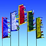 6 Foot Tall Vertical Prayer Flags – Set of 5 Colors from Radiant Heart Studios For Sale