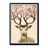 FENGZUWJP Deer 5d Diamond Painting Diy Embroidery Rhinestone Painting By Number Kits Full Art Crafts 16 by 22-inch (40x57cm)