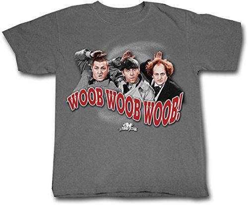 ALLU Three Stooges Woob, Woob, Woob T Shirt- X Large Gray Heather]()