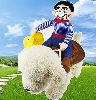 "OLizeeâ""¢Pet Dog Halloween Cowboy Funny Costume Dog Riders Clothes"