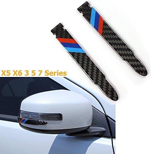 1 Set Carbon Fiber Rear view Mirror Protector Anti-scratch Trim Sticker Perftec Fit BMW 5 7 Series X5 X6