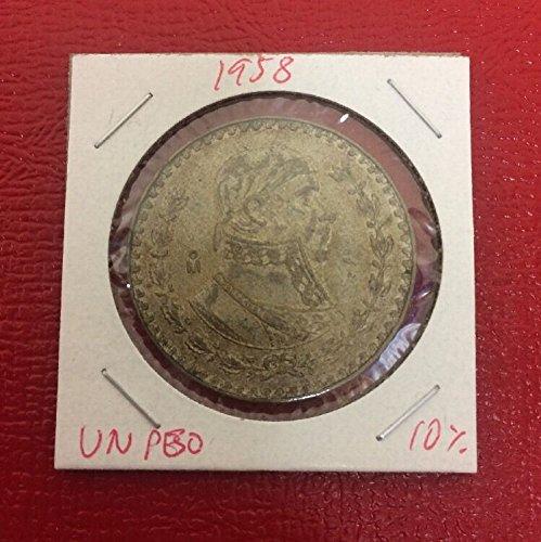 Genuine ~1958 Mexico One Peso 10% Silver LOT#H603