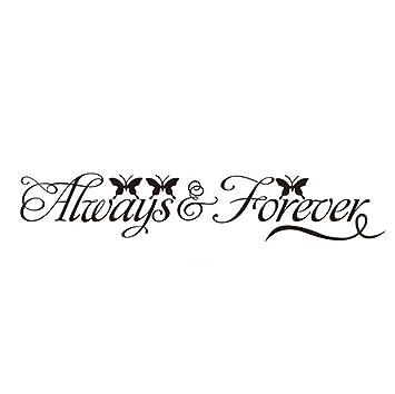 aloiness Always And Forever Art Vinilo Tatuajes De Pared Sala De ...