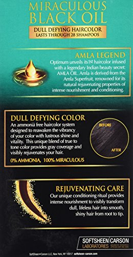 Optimum Care Amla Legend Miraculous Oil Dull Defying Hair Color Jet Black