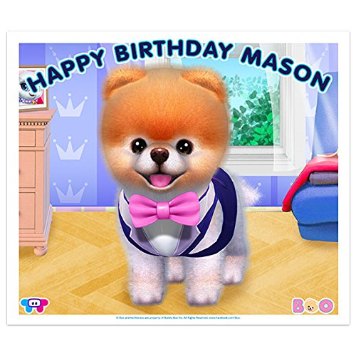 Boo the World's Cutest Dog With Tie Birthday Banner Decoration ()