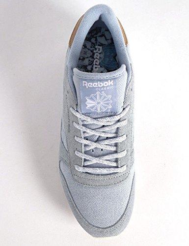Reebok Damen Schuhe / Sneaker Klassieke Lederen-zee Gedragen Grau (grijs)