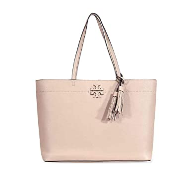 01dccba0b35f Amazon.com  Tory Burch McGraw Ladies Large Devon Sand Leather Tote  42200288  Clothing