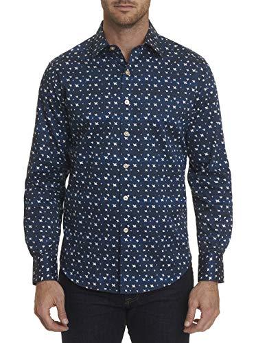 (Robert Graham Tesoro L/S Printed Woven Shirt Classic Fit Navy)