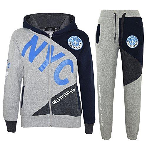 A2z Grey Nyc Blue Bottom Garçons Kids Project 11 amp; 4 Jogger Enfants 7 8 9 Encapuchonné Dlx 13 12 Survêtement Âge Imprimer Costume Ans 10 fqgrWfwXcA