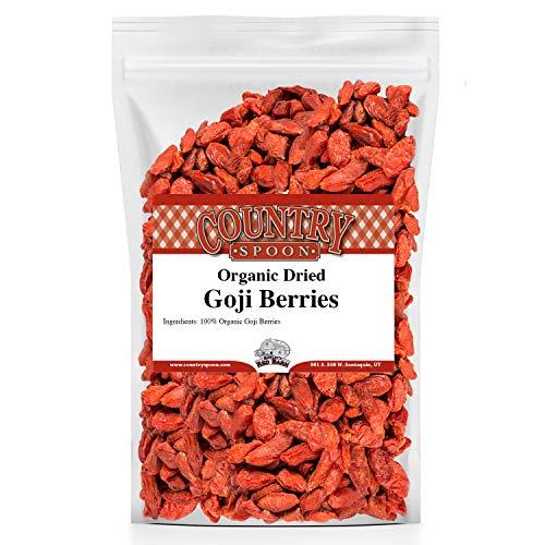 Organic Goji Berries, 1 lb, Certified Organic by Country Spoon