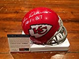 Autographed Len Dawson Mini Helmet - HOF 87 ITP PSA GTSM - GTSM Certified - Autographed NFL Mini Helmets