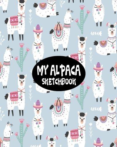 Read Online My Alpaca Sketchbook: Blank Sketchbook Drawing, 100 Blank Pages 8x10 White paper, Sketch, Draw, Doodle, Paint And Write (Volume 18) ebook