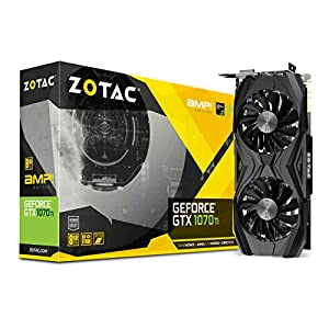 ZOTAC GeForce GTX 1070 Ti AMP EDITION 8GB GDDR5 256-bit Gaming Graphics Card IceStorm Cooling, Metal Backplate, Spectra… 51sLGVPrGbL. SS300