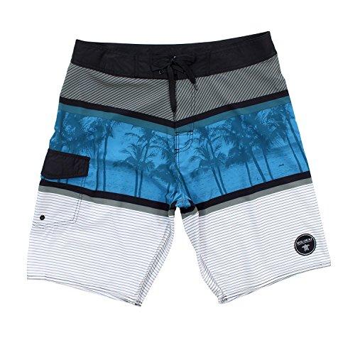 Molokai Mens Summer Time Stretch Boardshorts (38, Blue )