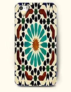 SevenArc Apple iPhone 4 4S Case Moroccan Pattern ( Turquoise Brown and Black Mosaic Pattern )