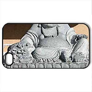 Benevolent Buddha - Case Cover for iPhone 4 and 4s (Watercolor style, Black)